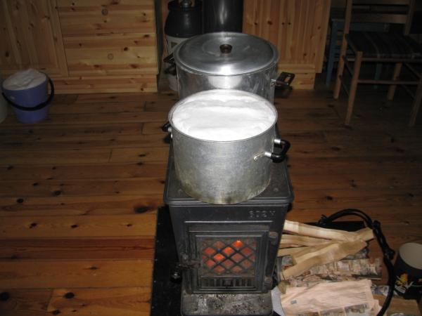 Even water koken.